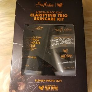 Shea moisture claritying trio skincare kit nib